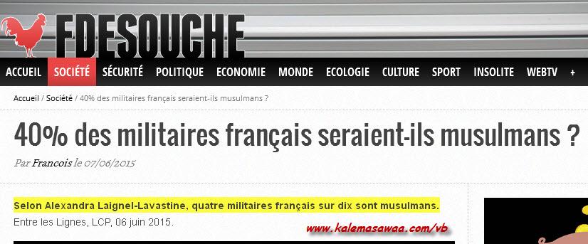 militaires français seraient-ils musulmans