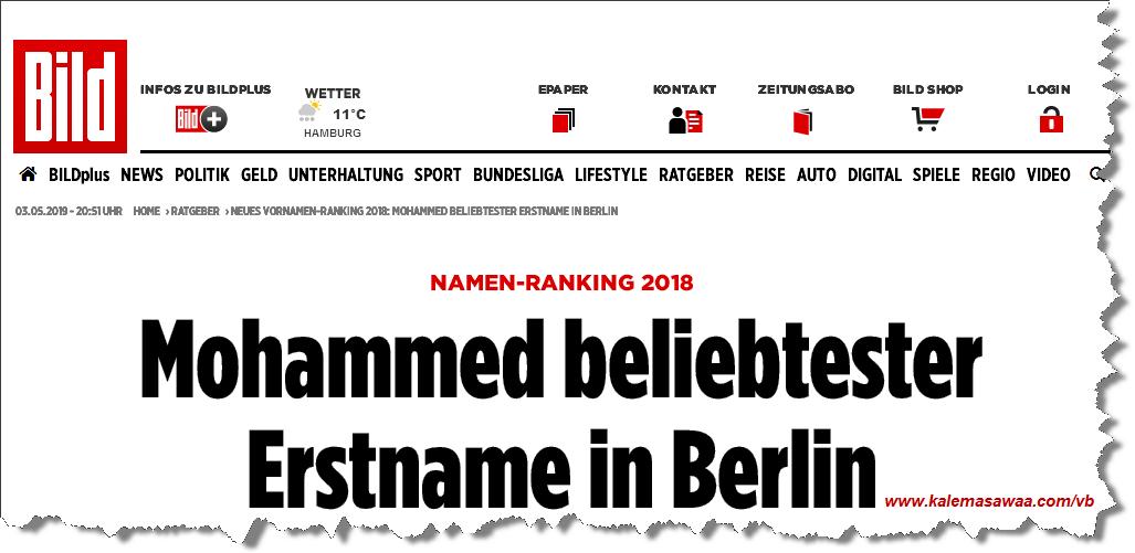 Mohammed Prénom plus populaire Berlin
