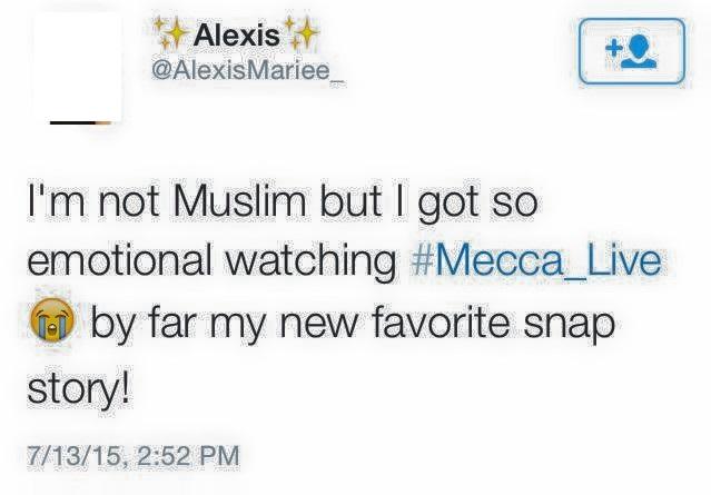 """قالوا رؤيتهم للحرم المكي مباشر """" غيرالمسلمين """""""
