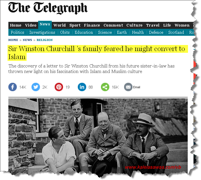 Winston Churchill family feared might convert Islam
