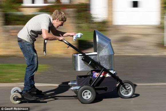 أسرع عربة أطفال العالم