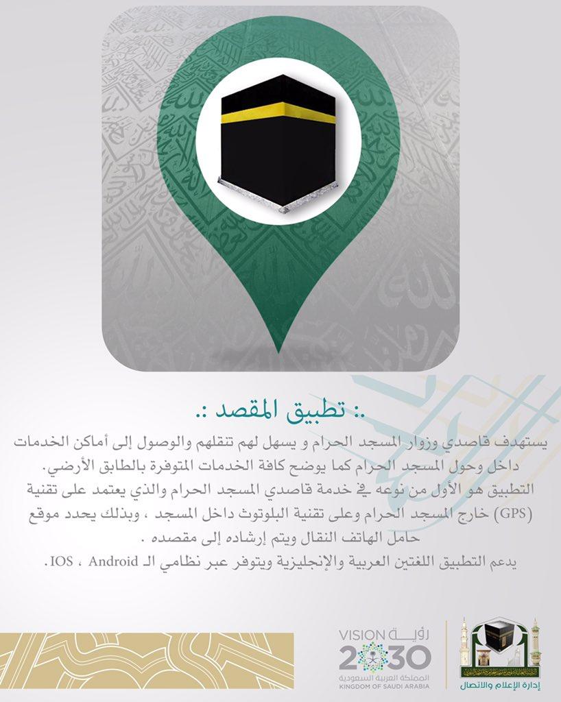 المقصد نظام الملاحة الإلكتروني للمسجد الحرام