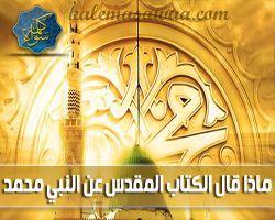ماذا قال الكتاب المقدس عن محمد عليه السلام