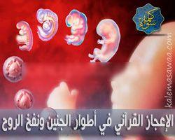 الإعجاز القرآني في أطوار خلق الجنين و نفخ الروح